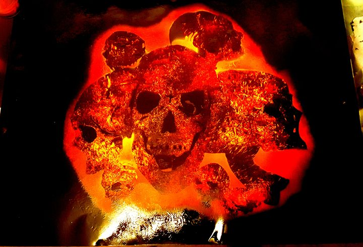 Skulls of flames - Twisted X-Pressions