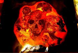 Skulls of flames