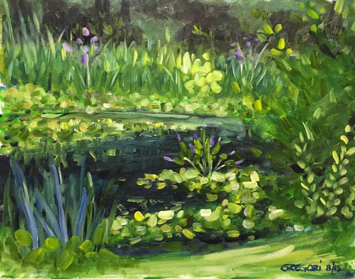 The Lilly Pond - Gregori Fine Art