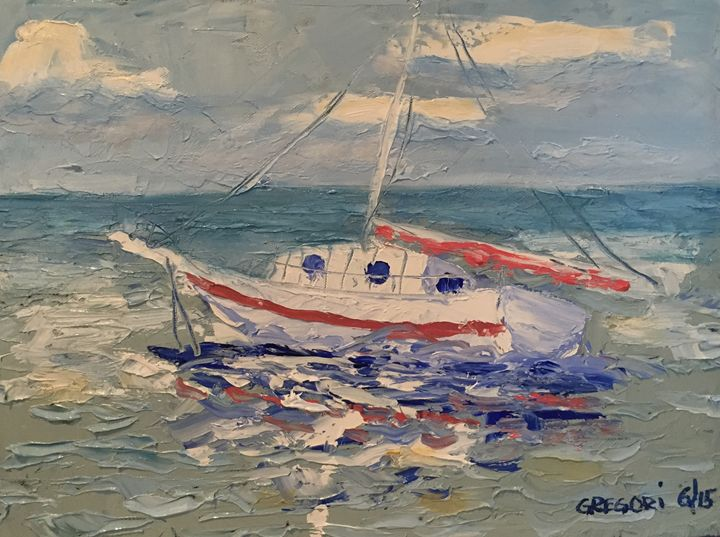 Weathering The Waves - Gregori Fine Art