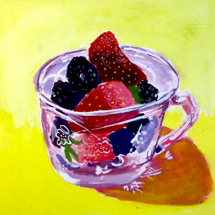 Teacup of Berries - Something of Shelby