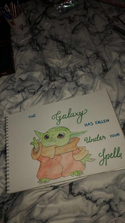 Baby Yoda 💗 - Art by Sarah