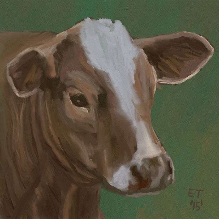 White Faced Calf - Ellie Taylor Artist