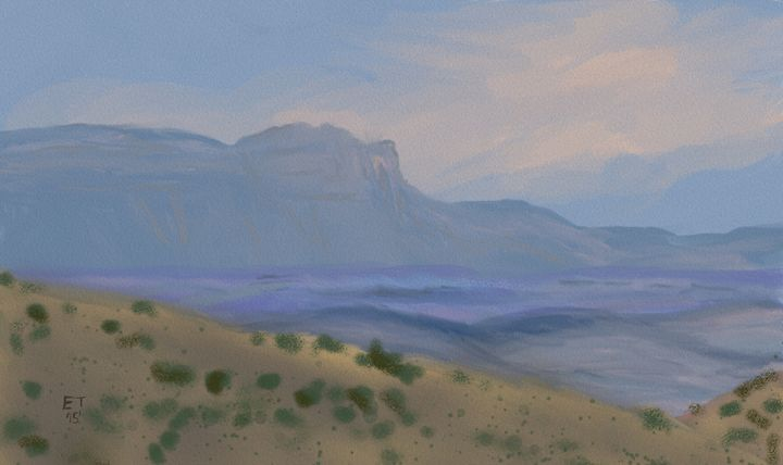 View of the Guadalupe Peak - Ellie Taylor Artist