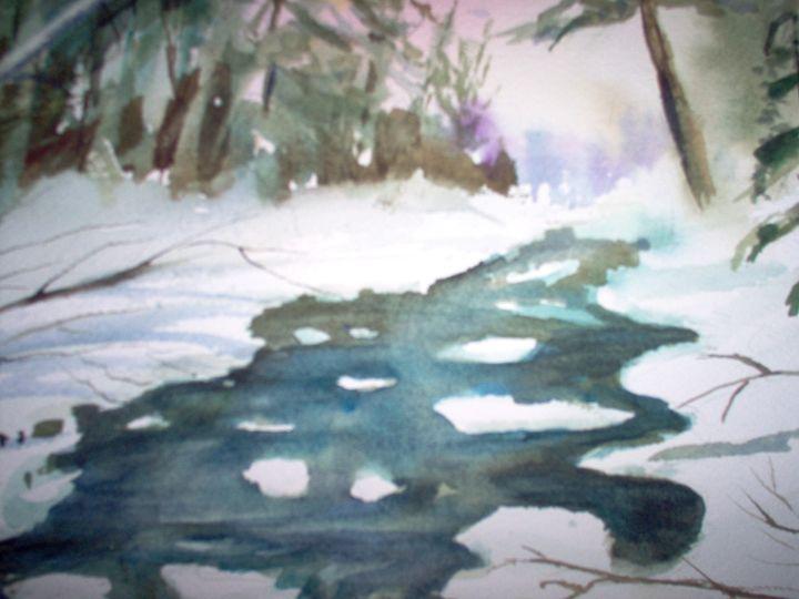 Stream in Winter - dollyannbrooks