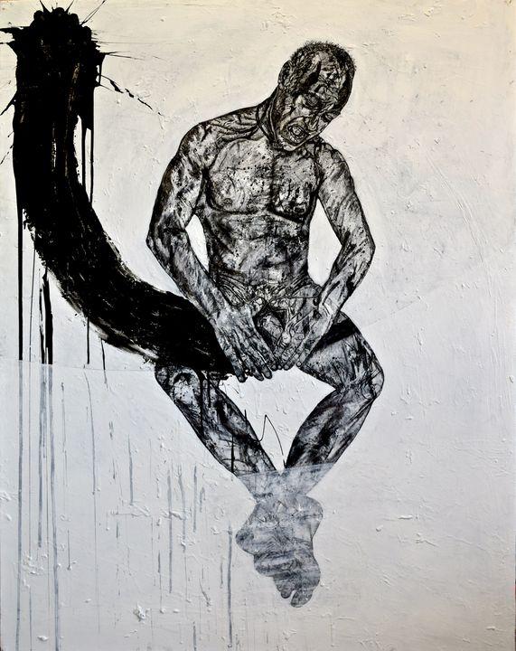 """""""Withering Heart"""" left of Triptych - Marius van Niekerk"""