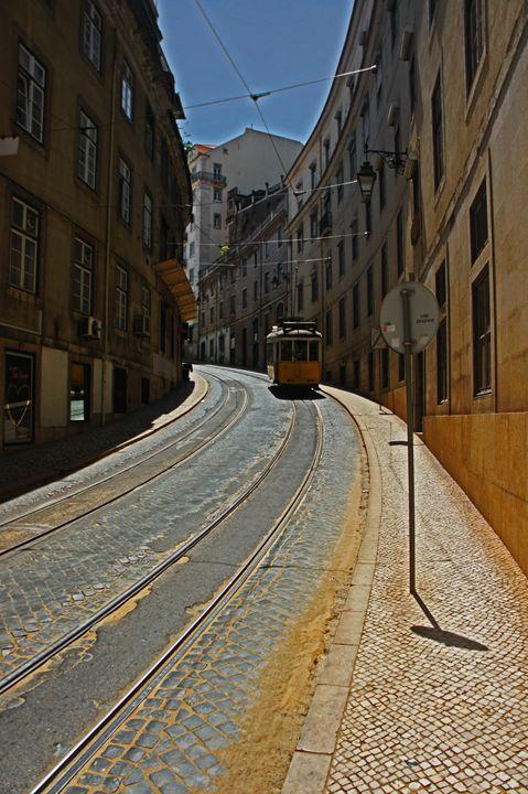 Lisbon Tram - City Streets by Paul Rausch