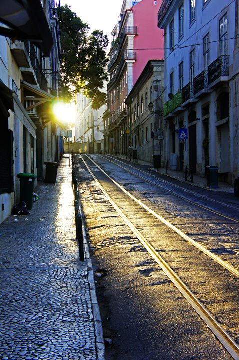 Early Morning Lisbon - City Streets by Paul Rausch