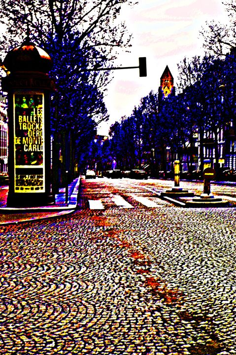 Paris Street Color - City Streets by Paul Rausch