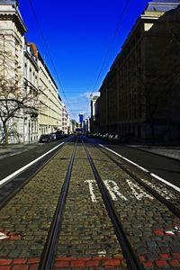 Brussels Tram Street