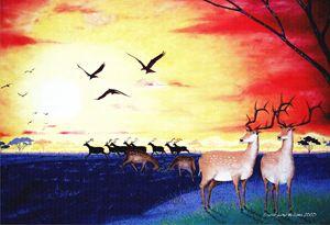 Deers at Dusk