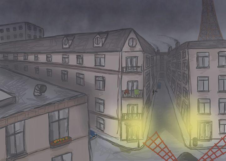 Gloomy Paris at night - Madison White