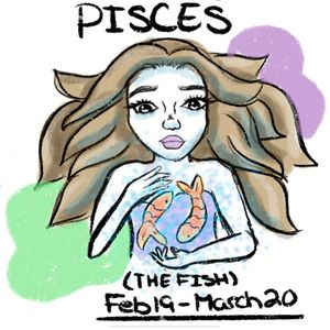 Pisces zodiac digital art print