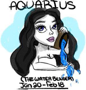 Aquarius zodiac digital art print