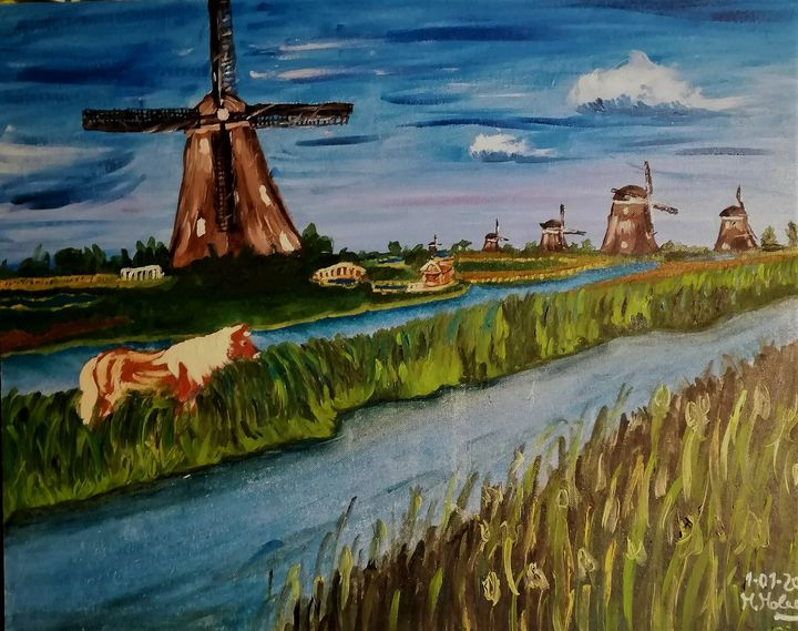 Paesaggio olandese - Emozioni su tela