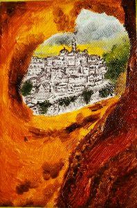 I Sassi di Matera da una fessura
