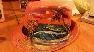 Sunscape Fire Afternoon Art Fedora