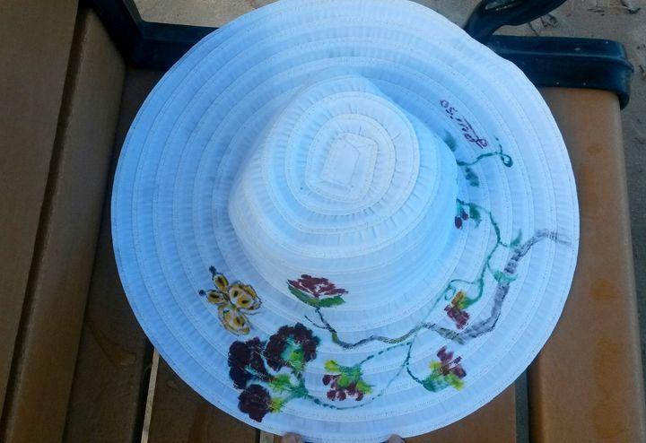 Butterfly's Home Sun Hat - Luiso Arias Art Portal