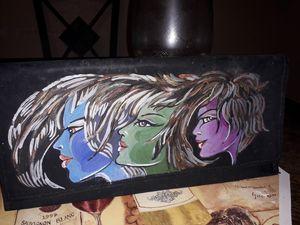 Lady Moon handmade painted bag