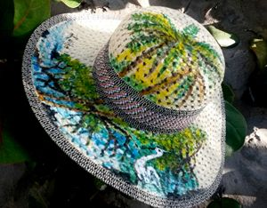 Mangle Sun Hat original signed Luiso