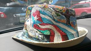 Cuba and Puerto Rico Art hat