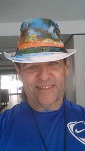 Luiso Arias artist Sunset Art hat