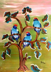 Swallowtailed Manakin