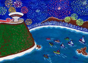 Fireworks in Guanabara Bay