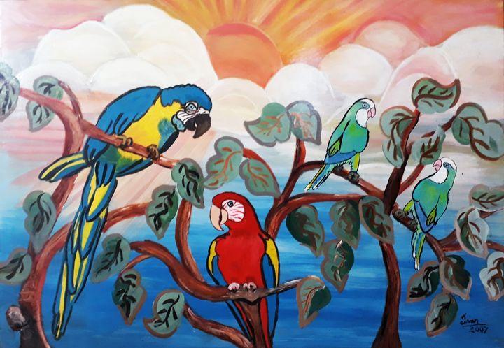 Macaws and Parrots - Isar Valdetaro