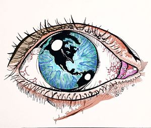 One Day The World Was In Her Eye