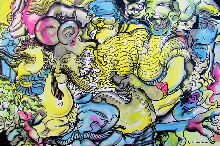 interpretation #91 - Paintings by Ignacio Mariño Larrique