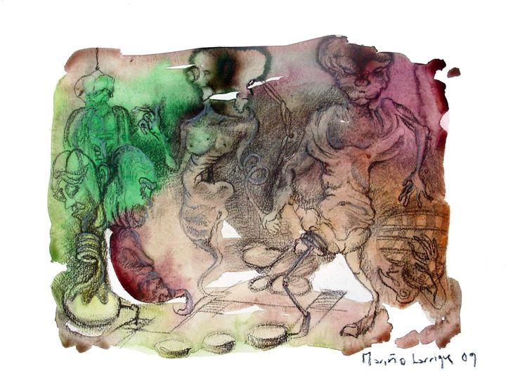 Interpretation #22 - Paintings by Ignacio Mariño Larrique