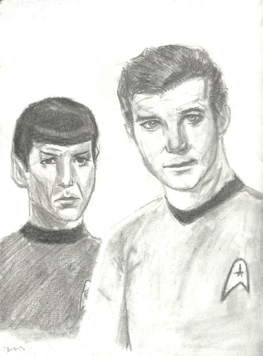 Kirk and Spock - Jessica Tanner