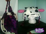 Handstitched Cow Skii Hat