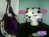 Handstitched Cow Skii Hat
