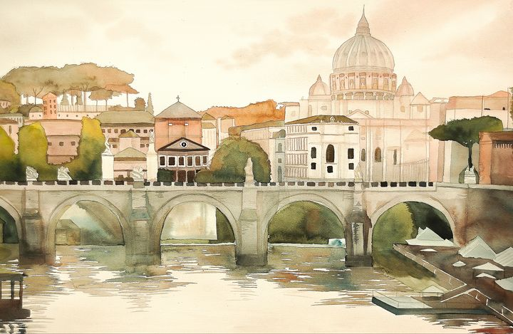 """""""The Tiber River"""" - Sarah Kiczek"""