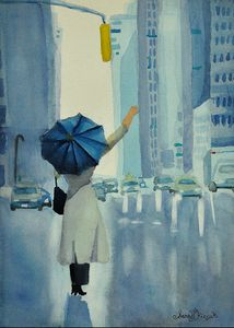 """The Blue Umbrella"" - Sarah Kiczek"