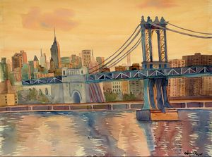 """New York Sunset"" - Sarah Kiczek"