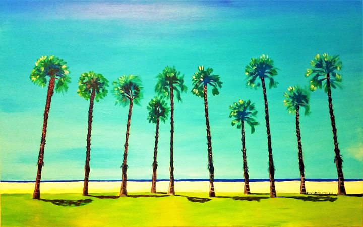 VENICE BEACH PALMS USA - SHAUNS ART