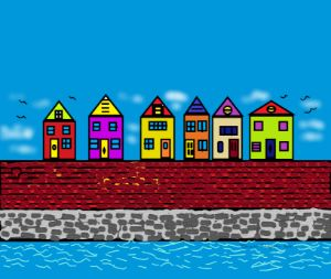 Houses by the seaside
