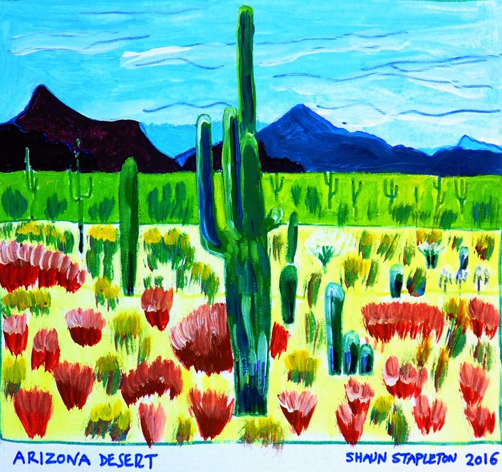 ARIZONA DESERT USA - SHAUNS ART