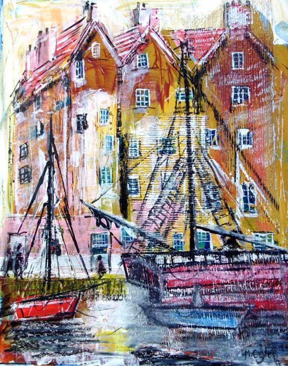 Old Harbour Scene - Martin Cayless
