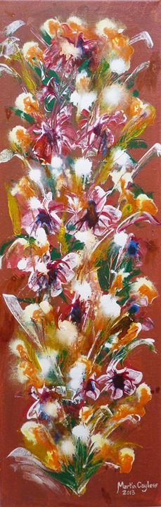 Flowers on Canvas - Martin Cayless