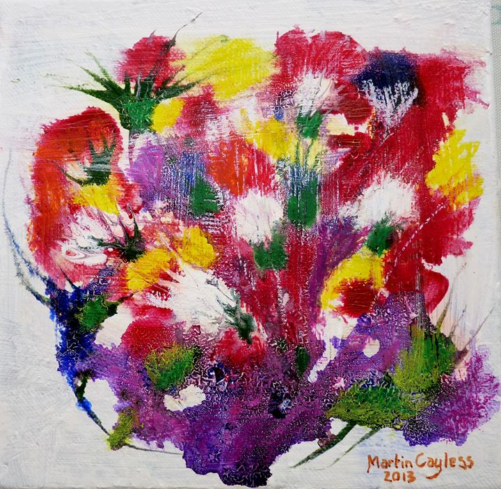 Flowers on canvas(9) - Martin Cayless