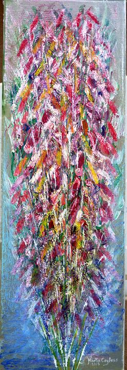 Flowers on canvas (5) - Martin Cayless