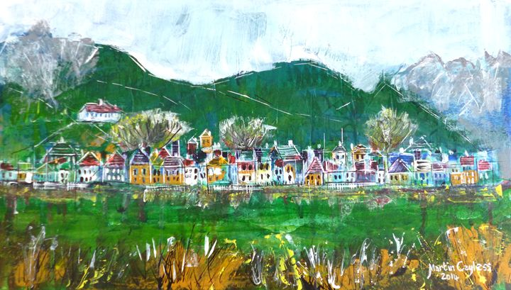 Austrian Village Scene 2 - Martin Cayless