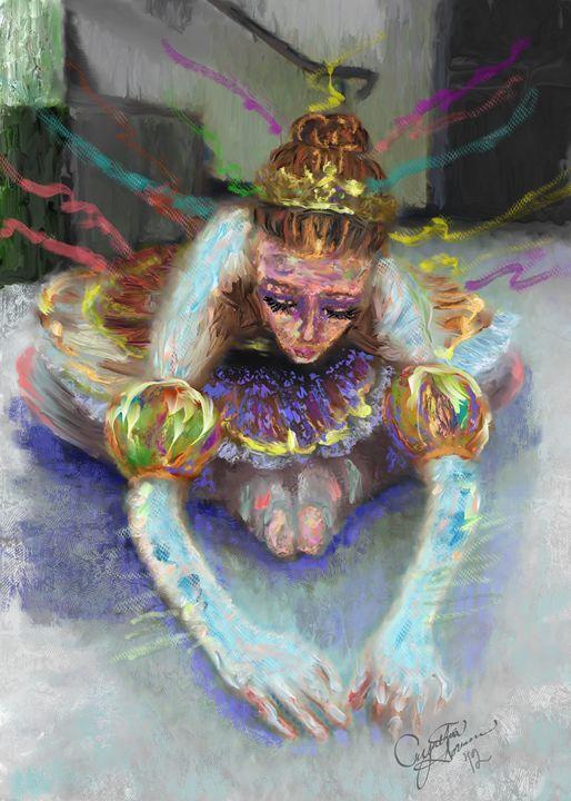 Ballerina Stretching - Cynthia Sorensen