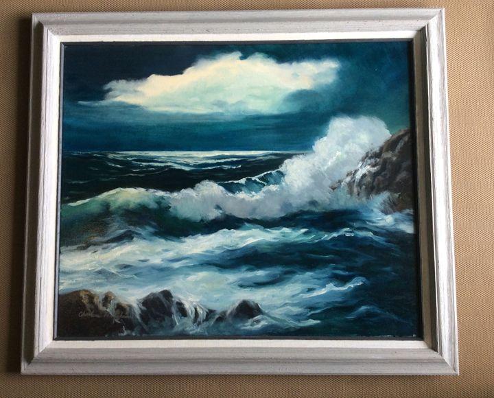 Schodic Point, Maine - Midnight Tide - Charlene Hodgkins