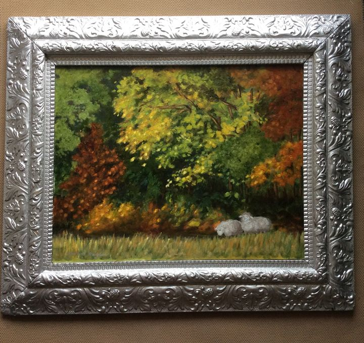 Pastoral Sheep in Autumn - Charlene Hodgkins