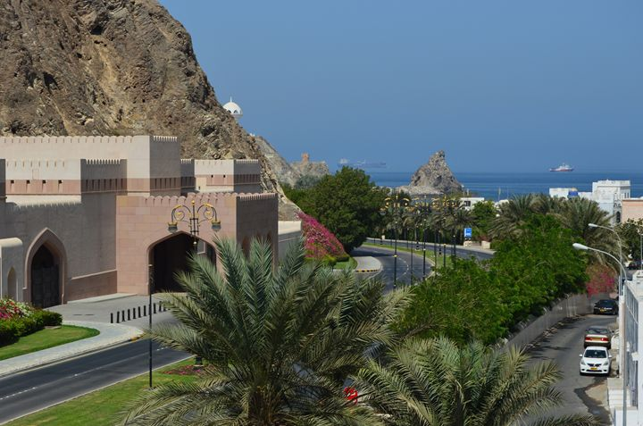 View of the Muscat Harbor - Art Arcade